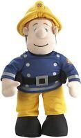 Fireman Sam Talking Plush Toy Blue & Yellow