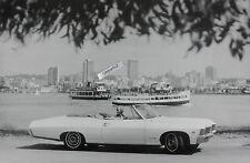 "1967 Chevrolet Impala Convertible 12 X 18"" Black & White Picture"