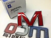 GMC Jimmy Sonoma Canyon Front Grille Red / Chrome Letter M EMBLEM new OEM