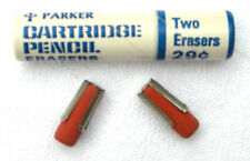 Parker Cartridge Pencil Eraser Refills New Old Stock 2 Erasers Per Tube