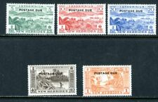 BRITISH NEW HEBRIDES J16-20, 1957 POSTAGE DUES, MINT, VLH (NHB002)