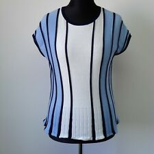 Womens Ladies STOCKH LM Blouse Shirt Style Top Size M striped UK 10/12