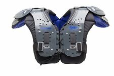 Adams Junior Comp Youth All Purpose Football Shoulder Pads Gray/Blue - 898300
