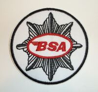 "BSA Motorcycle Biker British Embroidered Patch~3 1/8""~Iron Sew On~FREE US Mail"