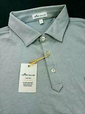Peter Millar Crown Sport Performance Polo Golf Shirt Size Large Gray $90