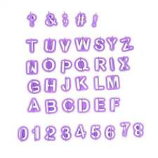 Alphabet Number Letter Fondant Cake Cookie Mould Fondant Cookie Cutters