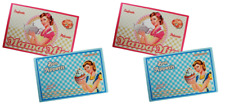SET OF 4 VINYL RETRO VINTAGE DESIGN PLACEMATS / TABLE PLACE MAT / MATS