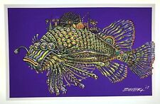 EMEK Fish Handbill Silkscreen Print 2013 Poster