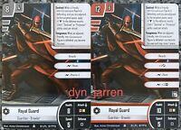 x2 Star Wars Imperial Assault Royal Guard Alternate Art Promo Card FFG