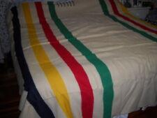 Vintage Hudson Bay 6 Point Wool Blanket 90 X 100