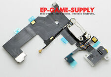 Headphone Audio Dock Connector Charging USB Port Flex Cable White iPhone 5 USA!