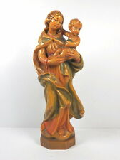 Maria mit Wandsockel - handgeschnitzt von Fr. Comploj  St. Ulrich / Italien