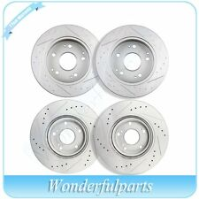 Fit Acura RSX Type S 02-06 Front And Rear Kit Brake Discs Rotors Drilled Slotted