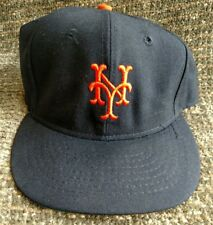 New York Mets black and orange fitted leather lined baseball hat size 7.5
