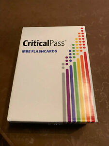 Critical Pass MBE Flashcards 2019 Bar Exam Study. 3 of 7 subjects UNOPENED