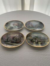 Thomas Kinkade's Lamplight Village Set of 4 Plates