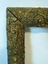 Cadre doré décor rocailles feuilles arabesques Sd Epire Napoléon III - 3 FIGURES
