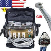 USA* Portable Dental Turbine Unit 4 Hole Air Compressor Suction System Equipment
