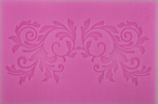 Double Leaf Scroll Silicone Mold for Fondant, Gum Paste, Chocolate , Crafts NEW
