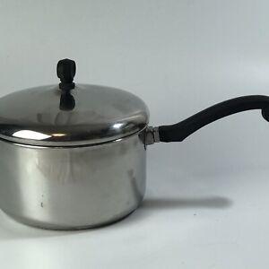 Vintage Farberware Aluminum Clad Stainless Steel 3 Qt Quart Saucepan with Lid