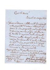 L13) ITALIA Regno Lotto di 10 documenti del 1800 (10 scans)
