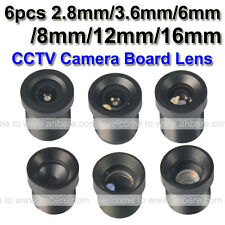 6 pcs lens 2.8mm/3.6mm/6mm/8mm/12mm/16mm for cctv board camera system long-dista