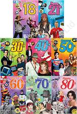 Pietra miliare CD musicale Biglietto Auguri Compleanno 18 21 30 40 50 60 70 80
