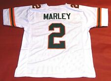 ROHAN MARLEY CUSTOM UNIVERSITY OF MIAMI HURRICANES W JERSEY THE U BOB MARLEY