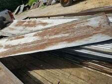 SEMI RUST RECLAIMED CORRUGATED METAL ROOFING TIN *SOLD BY THE SQUARE FOOT*