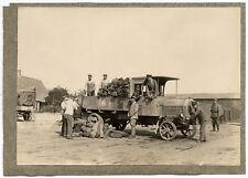 World war 1 Belgium ? German camp Truck & Stockpile 2 original photos 1915c L533