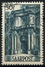 Saar 1948 SG#248, 50f Facade Of Mettlach Abbey Used #D14795
