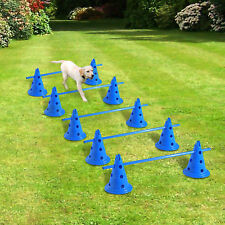 Pawhut Set di 5 Dog Agility attrezzature salti Kit Per Interni Set Di Formazione Pet corso