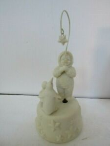 "Dept 56 Snowbabies Porcelain Music Box  ""Catch a Falling Star"" IOB"