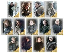 GAME OF THRONES Season 8 Preview - 13 Card Promo Set - GoT Jon Snow Daenerys