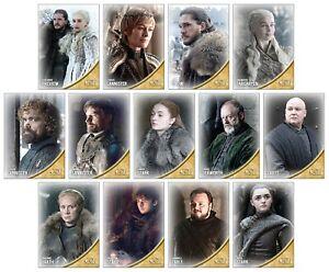 GAME OF THRONES Season 8 Preview - 13 Card Promo Set - GoT Jon Snow Daenerys
