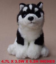 Realistic Black Husky Dog Puppy Plush, Kids And Children Stuffed Animal Toy Pet