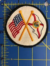 Vintage USA Florida Crossed Flags Patch State Seal Seminoles FL United States