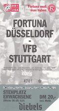 Ticket - Fortuna Dusseldorf v VfB Stuttgart 1996/7