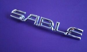 Nice 1996-1999 Mercury Sable-SABLE Trunk Lid Emblem-Badge