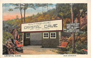 H70/ Kutztown Pennsylvania Postcard c1910 Entrance to Crystal Cave  65