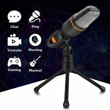 3.5 Microphone Condenser Tripod Stand Recording Mic For PC Laptop iPad iPhone US