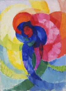 Art Fabric HD Print Oil Painting Wall Decor František Kupka Red and Blue Disks