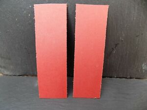 RED VULCANIZED LINERS FOR KNIFE HANDLES KNIFE MAKING HANDMADE KNIFE