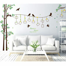Removable Wall Sticker Photo Frame Family Tree Bird Vinyl Decal Mural Home Decor