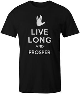 Live Long and Prosper Tee T-Shirt Star Trek Spock Leonard Nimoy Keep Calm