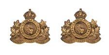 1st Canadian Mounted Rifles Collar Badges Brass Metal