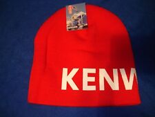 KENWORTH HAT:         Red Oversized Print Beanie  *FREE SHIPPING TO THE U.S.A.*