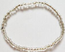 Armband Armreif durchsichtige  Glas Perlen Gummiband 6,5 cm Durchmesser