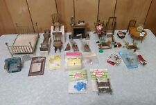 Lot Of Dollhouse Miniatures. Furniture And Accessories.