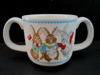 Mikasa Two-Handled Child's Cup Mug Do-Re-Mi - Singing Bunnies Rabbits. Porcelain